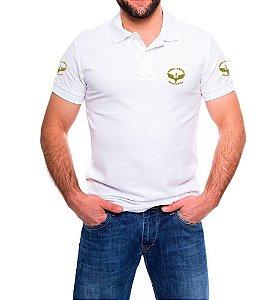 Camisa Masculina Gola Polo Branca Força Aérea Brasileira