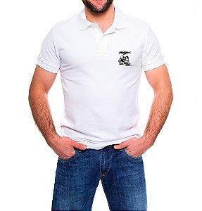 Camisa Masculina Gola Polo Branca Mercenários