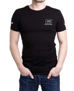 Camiseta Preta Masculina Bordada Glock Perfection