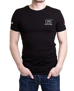 Camiseta Preta Masculina Bordada Glock Perfection
