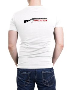 Camiseta Bordada Winchester Branca