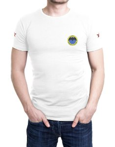 Camiseta Masculina Branca Bordada Spetsnaz