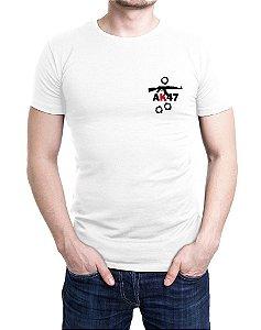 Camiseta Bordada AK47 Branca