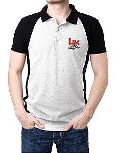 Camisa Gola Polo HK - Branco e Preto