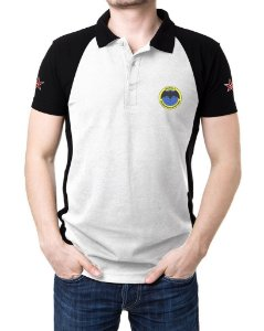 Camisa Gola Polo Spetsnaz - Branco e Preto