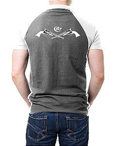 Camisa Gola Polo Colt - Cinza e Branco