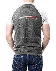 Camisa Gola Polo Winchester - Cinza e Branco