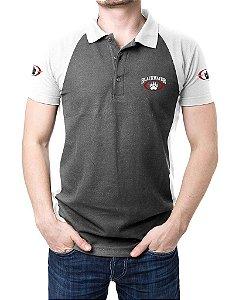 Camisa Gola Polo Blackwater - Cinza e Branco