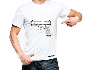 Camiseta Estampada - Pistola Glock