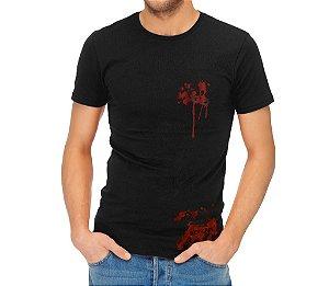 Camiseta Estampada- Blood preta