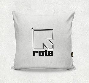 Almofada Bordada - ROTA  Branca