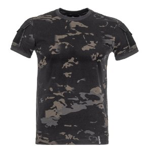 T-Shirt Army Camuflado Multicam Black