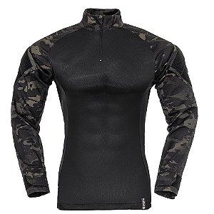 Combat Shirt Camuflado Multicam Black