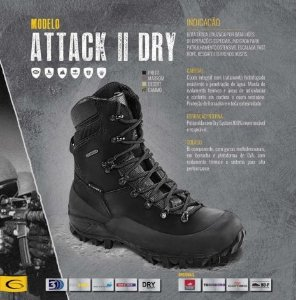 Bota Attack II Dry Preta