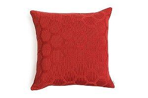 Almofada Hexag  Coral