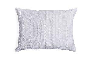 Porta Travesseiro M Trança Branco