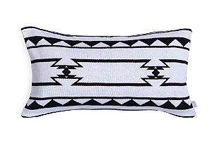 Almofada Cabeceira de Berço - Étnica Preto e Branco