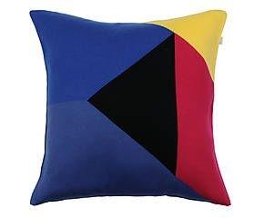 Almofada Triangulo Azul e Magenta