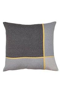 Almofada Mondrian Cinza e Amarelo