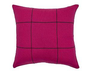 Almofada Quadriculado Rosa e Preto