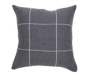Almofada Quadriculado Cinza e Branco