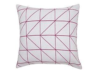 Almofada Linhas Branco e Rosa