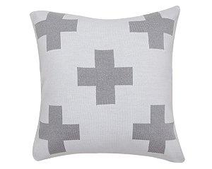 Almofada Maxi Cruz Branco e Cinza