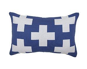Almofada Rim Maxi Cruz Azul e Branco