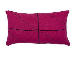 Almofada Rim Linhas Rosa e Preto