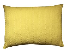 Porta Travesseiro G Trança Amarelo