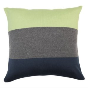 Almofada Faixas Verde, Cinza e Azul