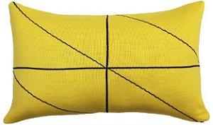 Almofada Rim Linhas Amarelo e Preto
