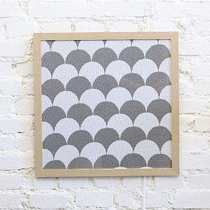 Quadro Escamas Cinza e Branco