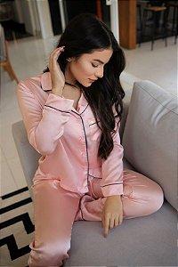 Pijama Água de Coco Longo - Rosê
