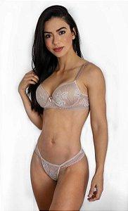 Conjunto Lingerie Veneza - Nude