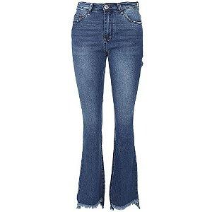 Calça Jeans Polo Wear Bootcut Estonada Azul