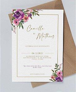 Identidade visual: artes avulsas, kits ou convite de casamento - floral violeta [artes digitais]