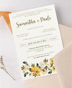 Identidade visual: artes avulsas, kits ou convite de casamento - floral amarelo jacienne [artes digitais]