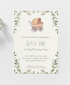 Convite Chá de Bebê ou Identidade Visual - Folhagens [Artes Digitais]