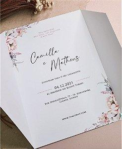 Identidade visual: artes avulsas, kits ou convite de casamento - floral rosé delicado [artes digitais]
