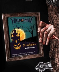 Convite Halloween ou Identidade Visual - Medo [Artes Digitais]
