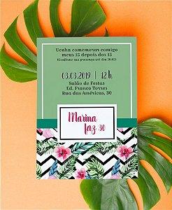 Convite de Aniversário ou Identidade Visual - Tropical [Artes Digitais]