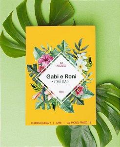 Convite Chá Bar ou Identidade Visual - Tropical Moderno [Artes Digitais]