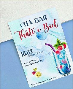 Convite Chá Bar ou Identidade Visual - Drink [Artes Digitais]