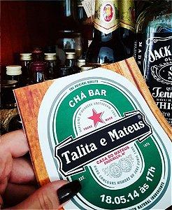 Convite Chá Bar - Heineken [Arte Digital]