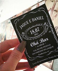 Convite Chá Bar - Jack Daniels [Arte Digital]