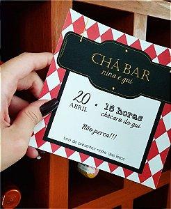 Convite Chá Bar ou Identidade Visual - Boteco Vermelho [Artes Digitais]