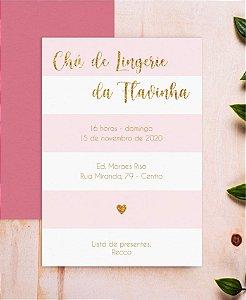 Convite Chá de Lingerie ou Identidade Visual - Rosa Glitter [Artes Digitais]