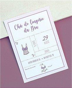 Convite Chá de Lingerie ou Identidade Visual - Lilás [Artes Digitais]