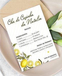 Convite Chá de Cozinha ou Identidade Visual - Receita [Artes Digitais]